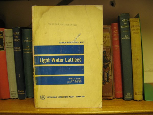 Image for Light Water Lattices: Report of the Panel on Light Water Lattices Held in Vienna, 28 May - 1 June 1962 (Technical Report Series; No. 12)