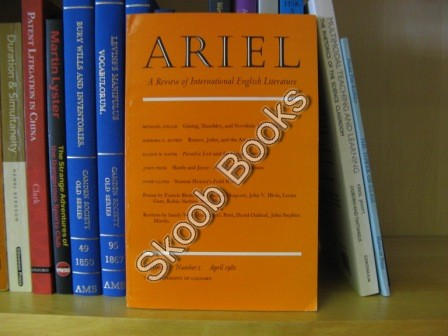 Image for Ariel, A Review of International English Literature: Volume 12, Number 2, April 1981