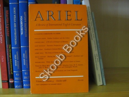Image for Ariel, A Review of International English Literature: Volume 19, Number 4, October 1988
