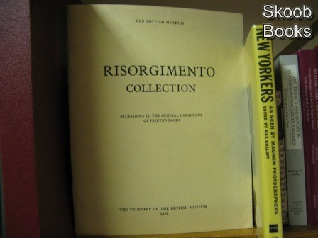 Image for Risorgimento Collection: Accessions to the General Catalogue of Printed Books