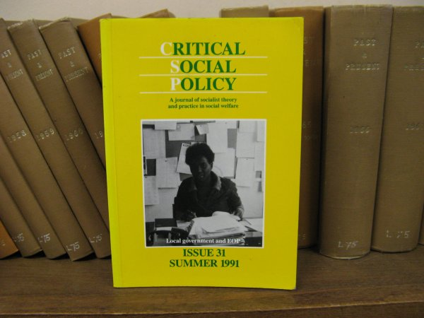 Image for Critical Social Policy; Issue 31, Volume 11, Number 1, Summer 1991