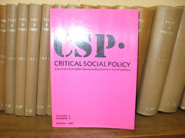 Image for Critical Social Policy; Volume 2, Number 3, Spring 1983