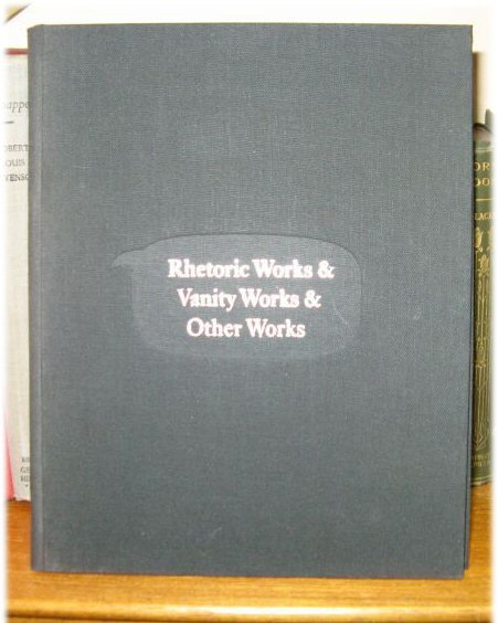 Image for Rhetoric Works & Vanity Works & Other Works