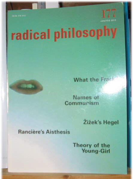 Image for Radical Philosophy 177: Jan/Feb 2013