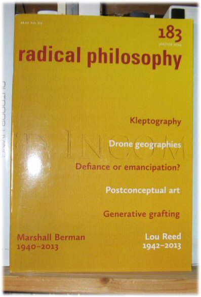 Image for Radical Philosophy 183: Jan/Feb 2014