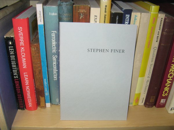 Image for Stephen Finer: 2nd - 27th May 1995