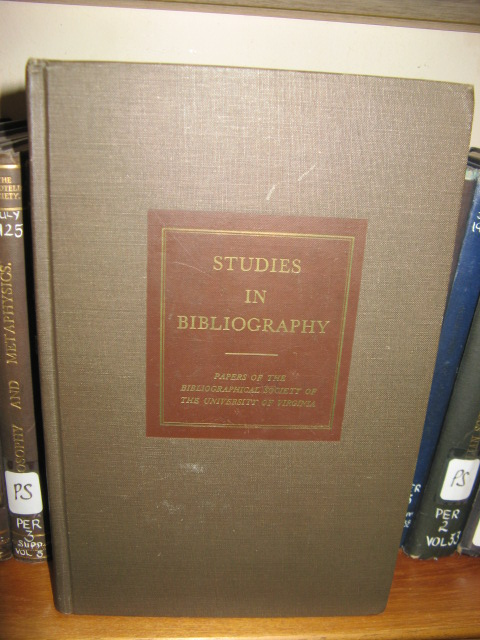 Image for Studies in Bibliography: Vol. XXII, 1969