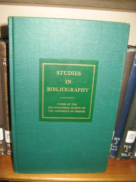 Image for Studies in Bibliography: Vol. XXVI, 1973