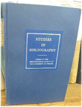 Image for Studies in Bibliography: Papers of the Bibliographical Society of the University of Virginia; Volume XXIV, 1971