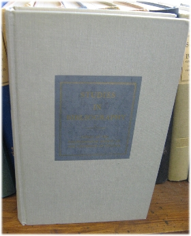 Image for Studies in Bibliography: Papers of the Bibliographical Society of the University of Virginia; Volume XXX, 1977