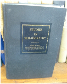 Image for Studies in Bibliography: Papers of the Bibliographical Society of the University of Virginia; Volume XXXI, 1978