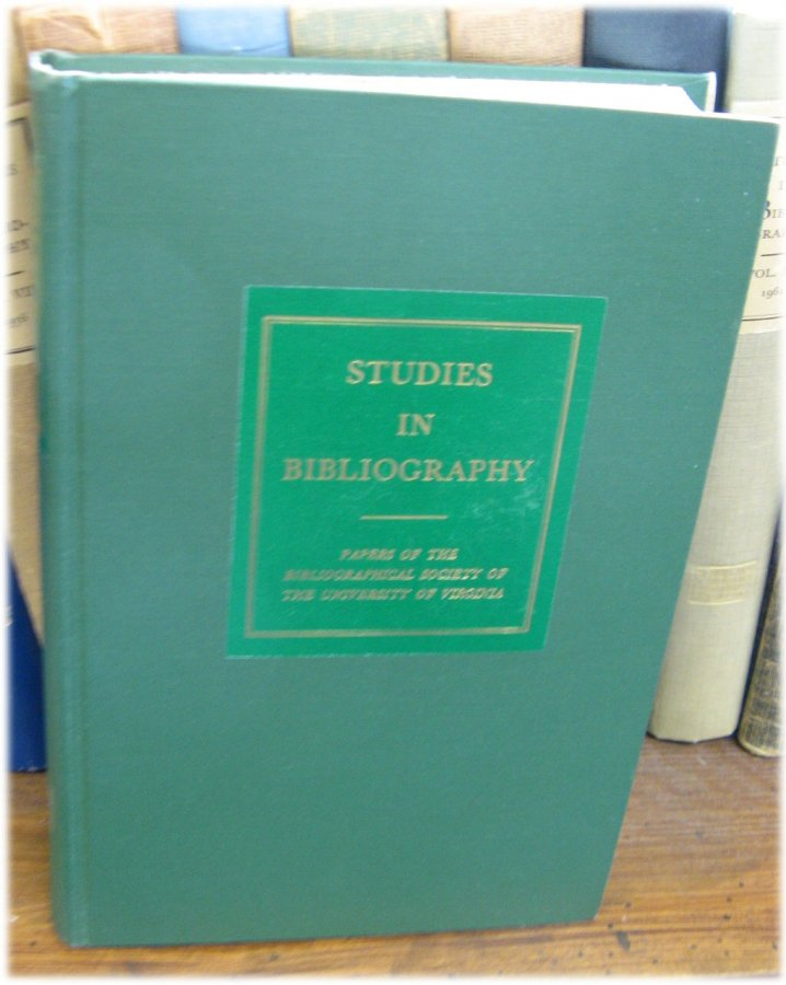 Image for Studies in Bibliography: Papers of the Bibliographical Society of the University of Virginia; Volume XXXII, 1979