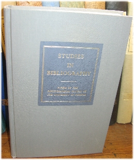 Image for Studies in Bibliography: Papers of the Bibliographical Society of the University of Virginia; Volume XXXXII, 1989