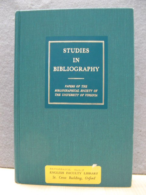 Image for Studies in Bibliography: Papers of the Bibliographical Society of the University of Virginia, Volume 45