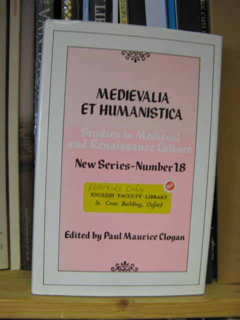 Image for Medievalia et Humanistica: Studies in Medieval & Renaissance Culture: New Series: Number 18: Spectrum