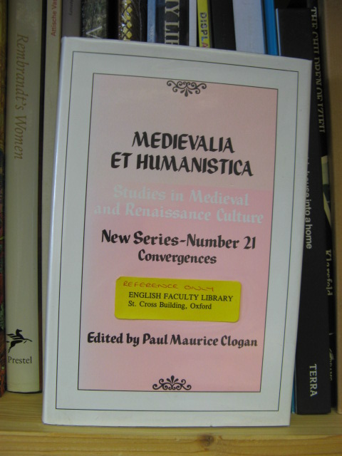Image for Medievalia et Humanistica: Studies in Medieval & Renaissance Culture: New Series: Number 21: Convergences