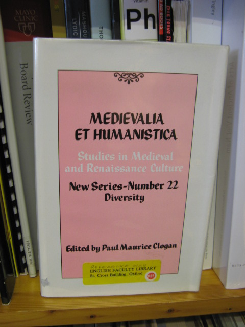 Image for Medievalia et Humanistica: Studies in Medieval & Renaissance Culture: New Series: Number 22: Diversity