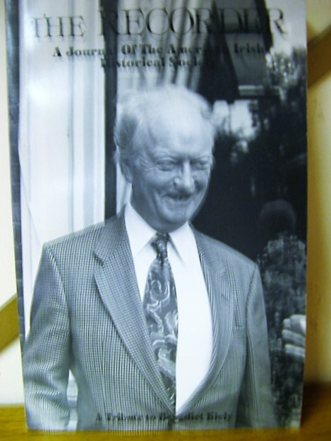 Image for The Recorder: A Journal of the American Irish Historical Society: A Tribute to Benedict Kiely: Volume 7, No. 1, Summer 1994