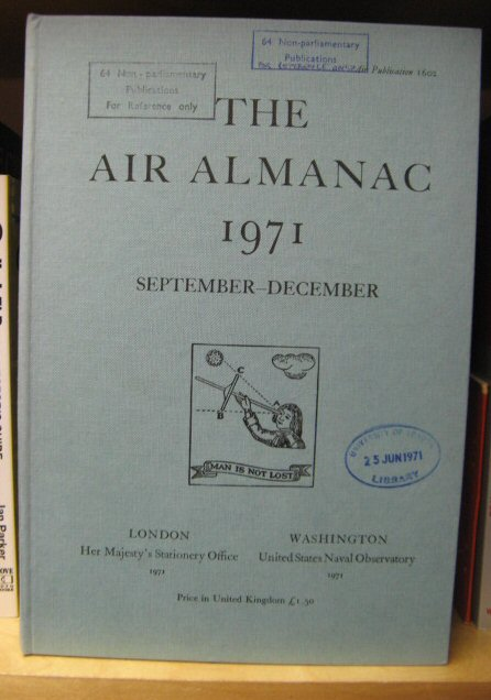 Image for The Air Almanac: September - December 1971