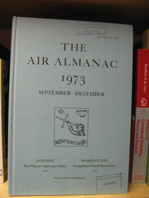 Image for The Air Almanac: September - December 1973