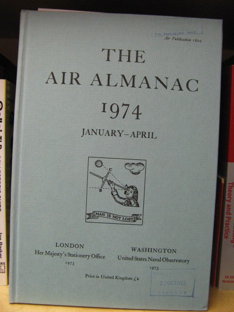 Image for The Air Almanac: January - April 1974