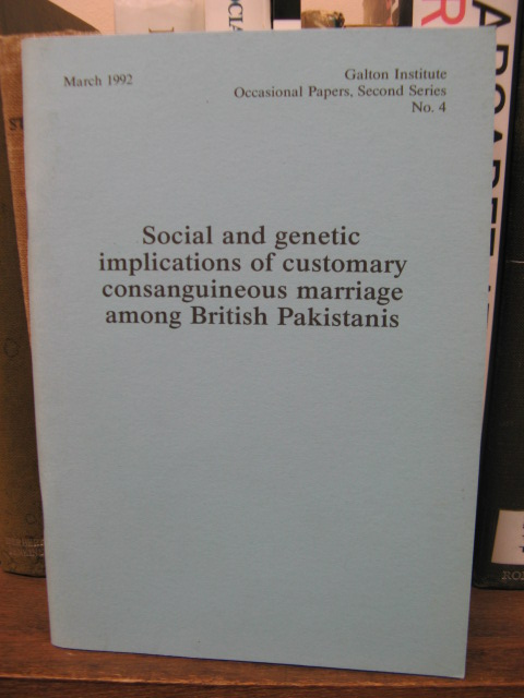 Image for Social and Genetic Implications of Customary Consanguineous Marriage Among British Pakistanis (Second Series No. 4, March 1992)
