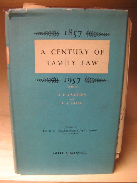 Image for A Century of Family Law, 1857 - 1957