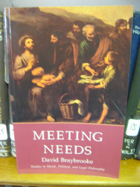 Image for Meeting Needs: Studies in Moral, Political, and Legal Philosophy