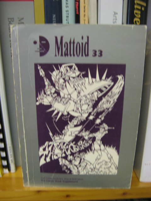 Image for Mattoid 33, No. 1