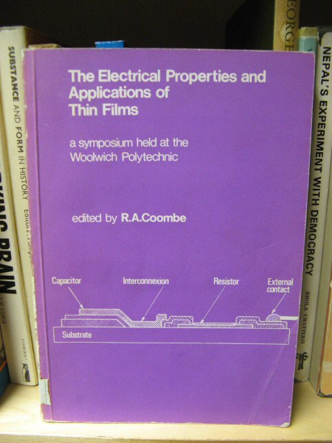 Image for The Electrical Properties and Applications of Thin Films