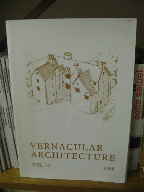 Image for Vernacular Architecture, Volume 19, 1988