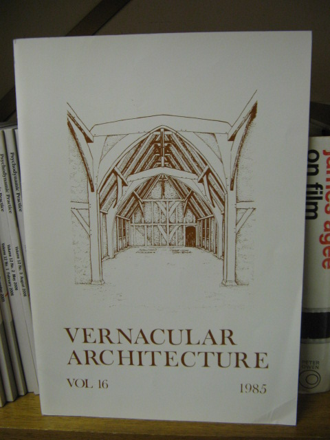 Image for Vernacular Architecture, Volume 16, 1985