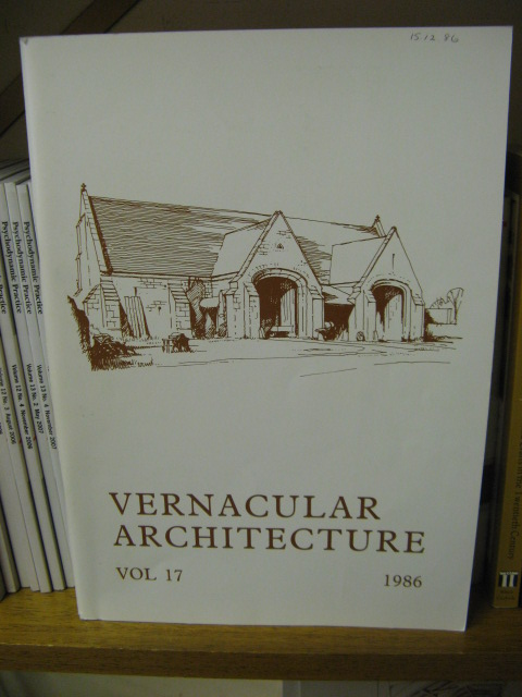 Image for Vernacular Architecture, Volume 17, 1986