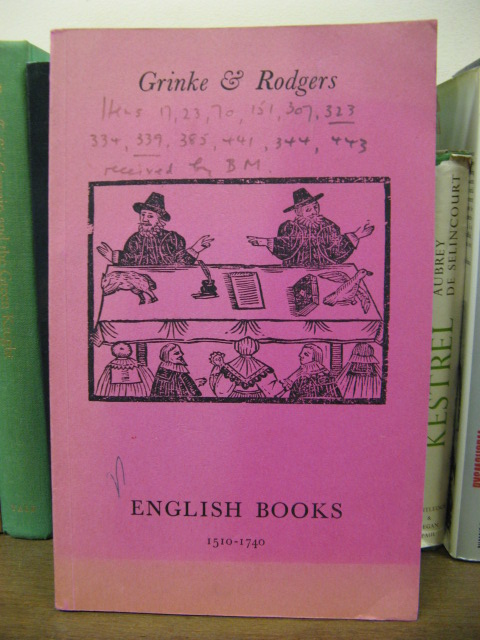 Image for English Books 1510-1740,  Catalogue No 3