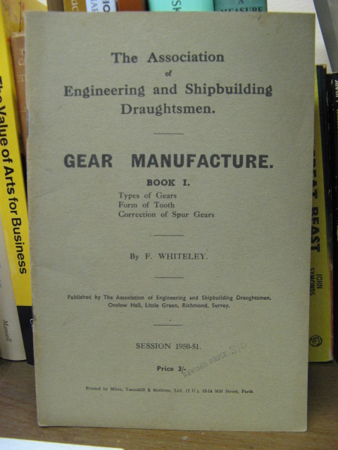 Image for Gear Manufacture, Book I