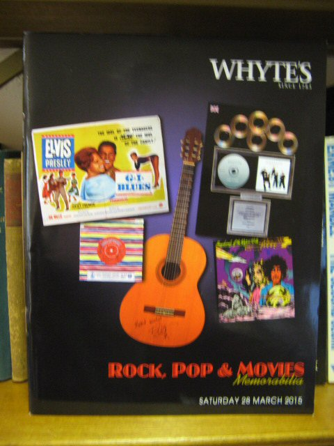Image for Whyte's: Dublin: Rock, Pop & Movies Memorabilia: Saturday 28 March 2015