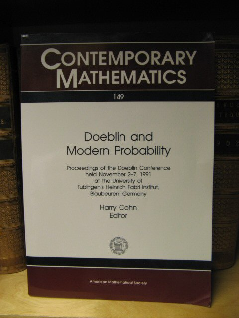 Image for Doeblin and Modern Probability (Contemporary Mathematics)
