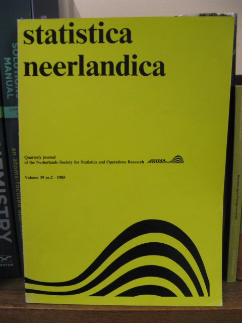 Image for Statistica Neerlandica: Quarterly Journal of the Netherlands Society for Statistics and Operations Research, Volume 39, No. 2, 1985