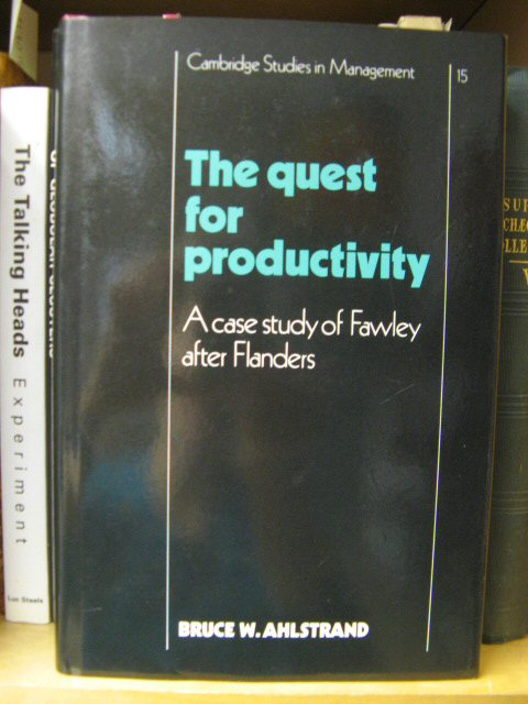 Image for The Quest for Productivity: A Case Study of Fawley After Flanders