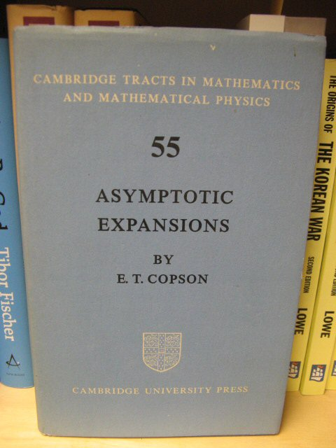 Image for Asymptotic Expansions (Cambridge Tracts in Mathematics and Mathematical Physics 55)