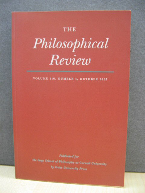 Image for The Philosophical Review, Volume 116, Number 4, October 2007