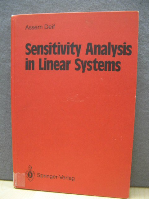 Image for Sensitivity Analysis in Linear Systems