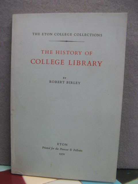 Image for The History of Eton College Library