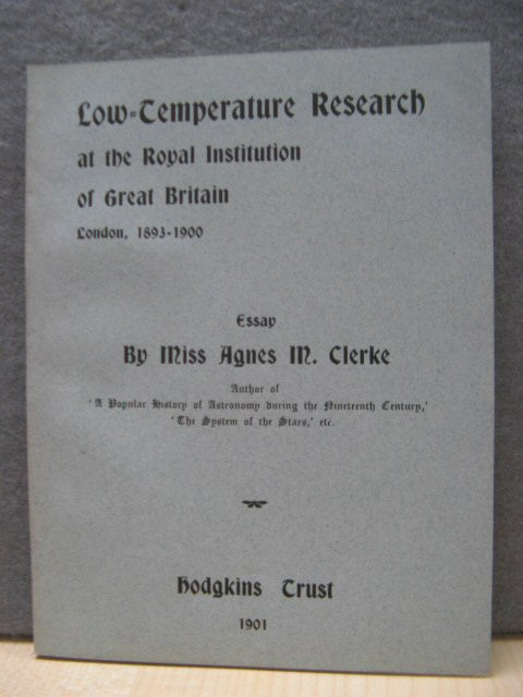 Image for Low-Temperature Research at the Royal Institution of Great Britain, London, 1893 - 1900