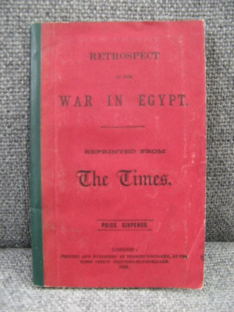 Image for Retrospect of the War in Egypt, Reprinted from the Times
