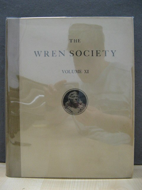 Image for The Eleventh Volume of the Wren Society 1934