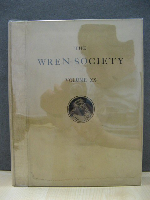Image for The Twentieth Volume of the Wren Society 1943