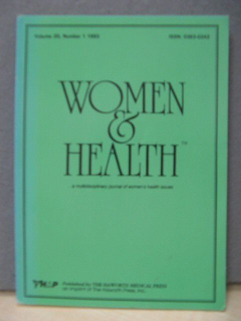Image for Women and Health: Volume 20, Number 1