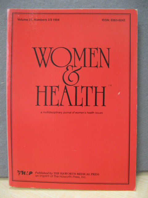 Image for Women and Health: Volume 21, Numbers 2/3
