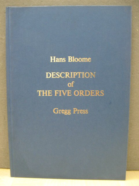 Image for A Description of the Five Orders
